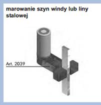 Smarowanie prowadnicy windy lub lin stalowych