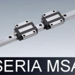 Prowadnice liniowe serii MSA (do wysokich obciążeń)