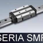 Prowadnice liniowe serii SMR (typ rolkowy z łańcuchem prowadzącym)