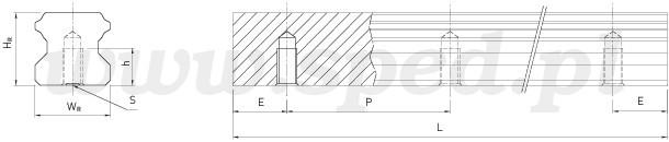 Szyna profilowa HGR - HGR-T