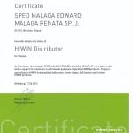 Certyfikat od firmy Hiwin